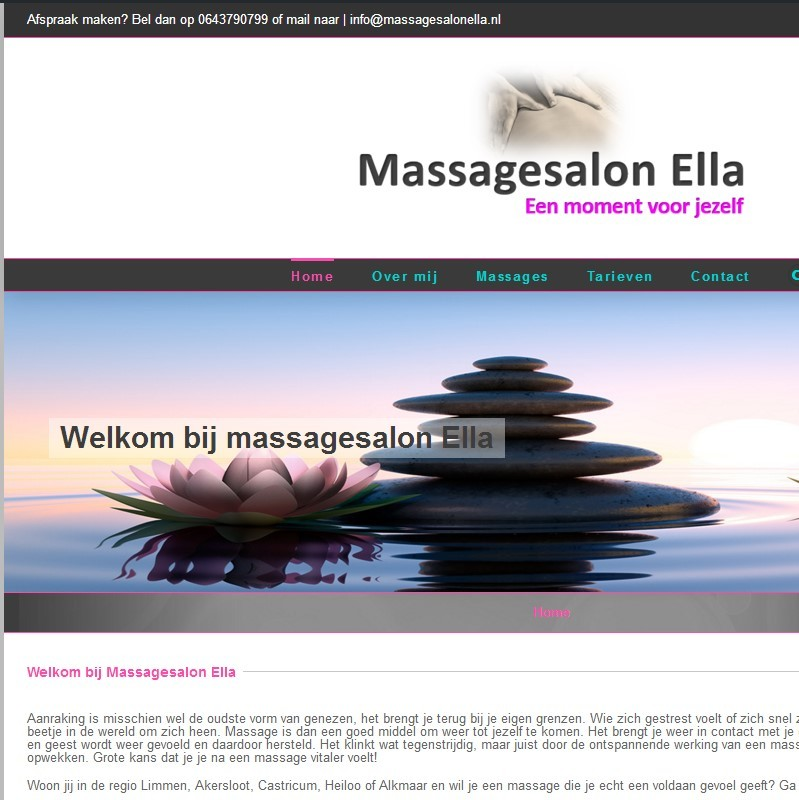 website massagesalon ella